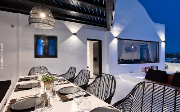 project psarou black villa @ mykonos